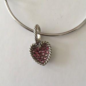 Jewelry - Brighton pink crystal heart charm